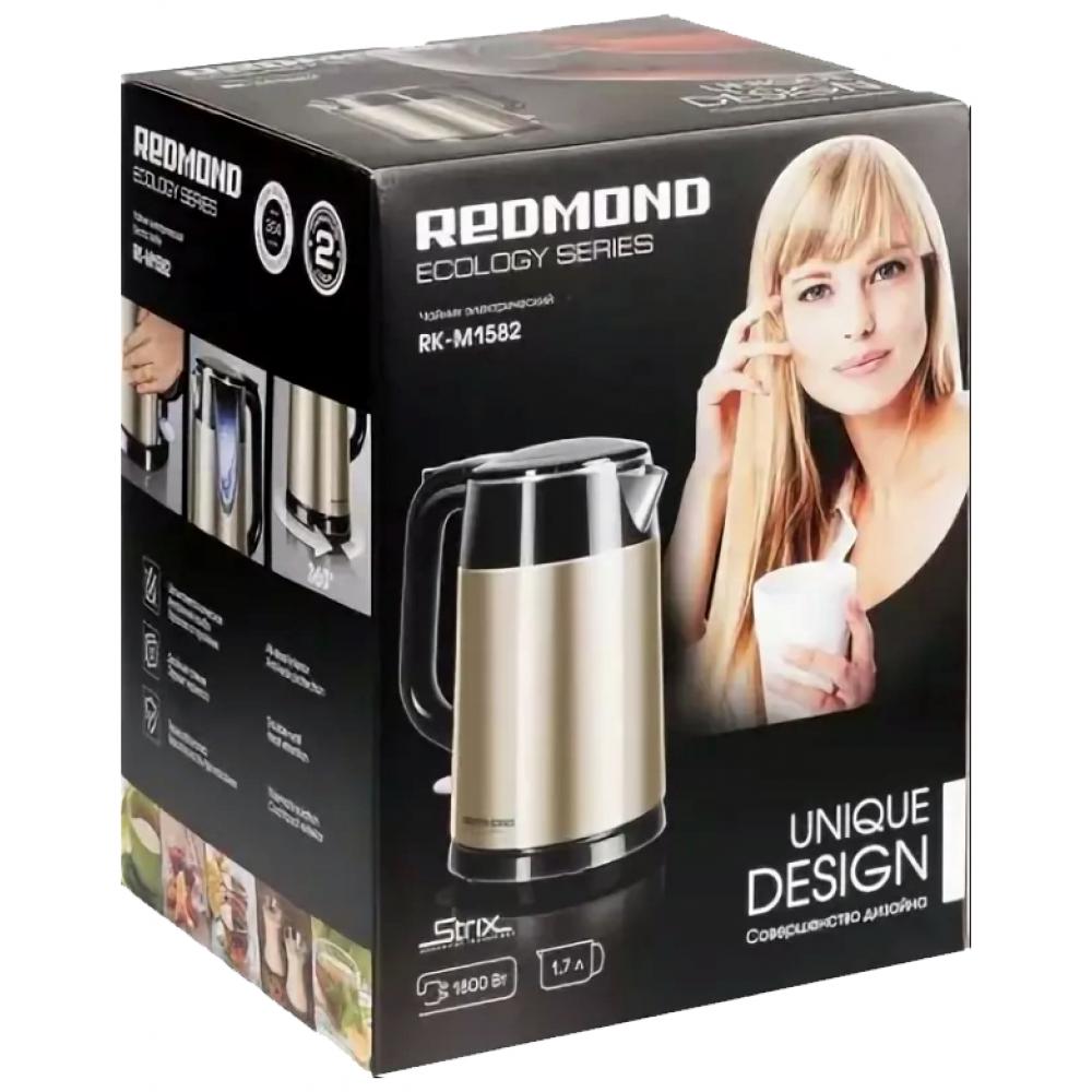 Чайник REDMOND RK-M1582, black/gold